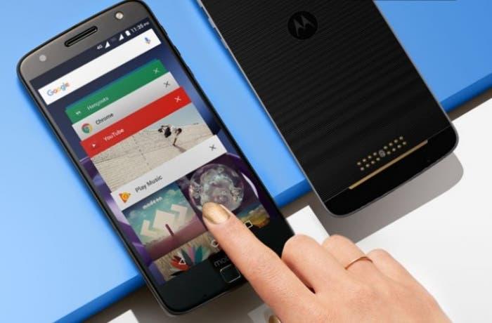 Moto Z play pantalla