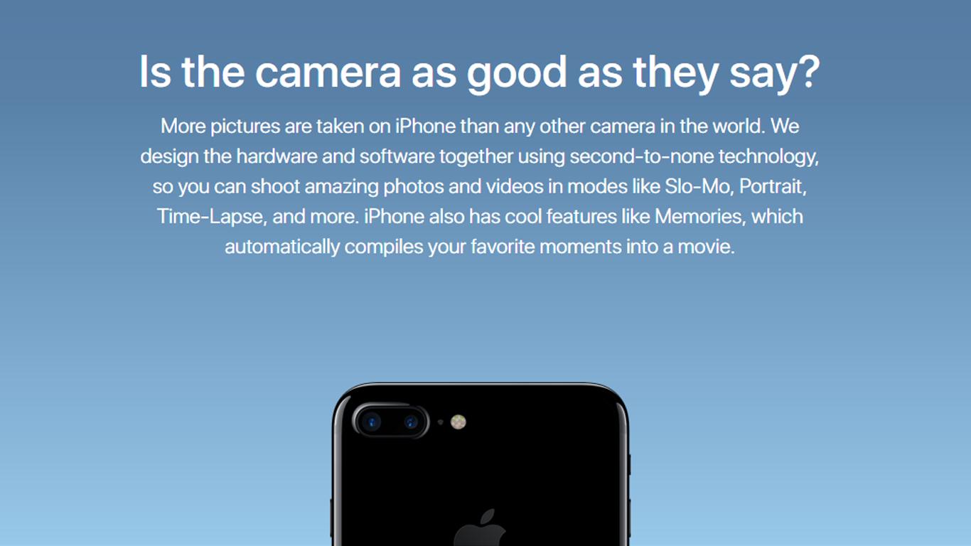 Campaña web Android vs Apple cámara