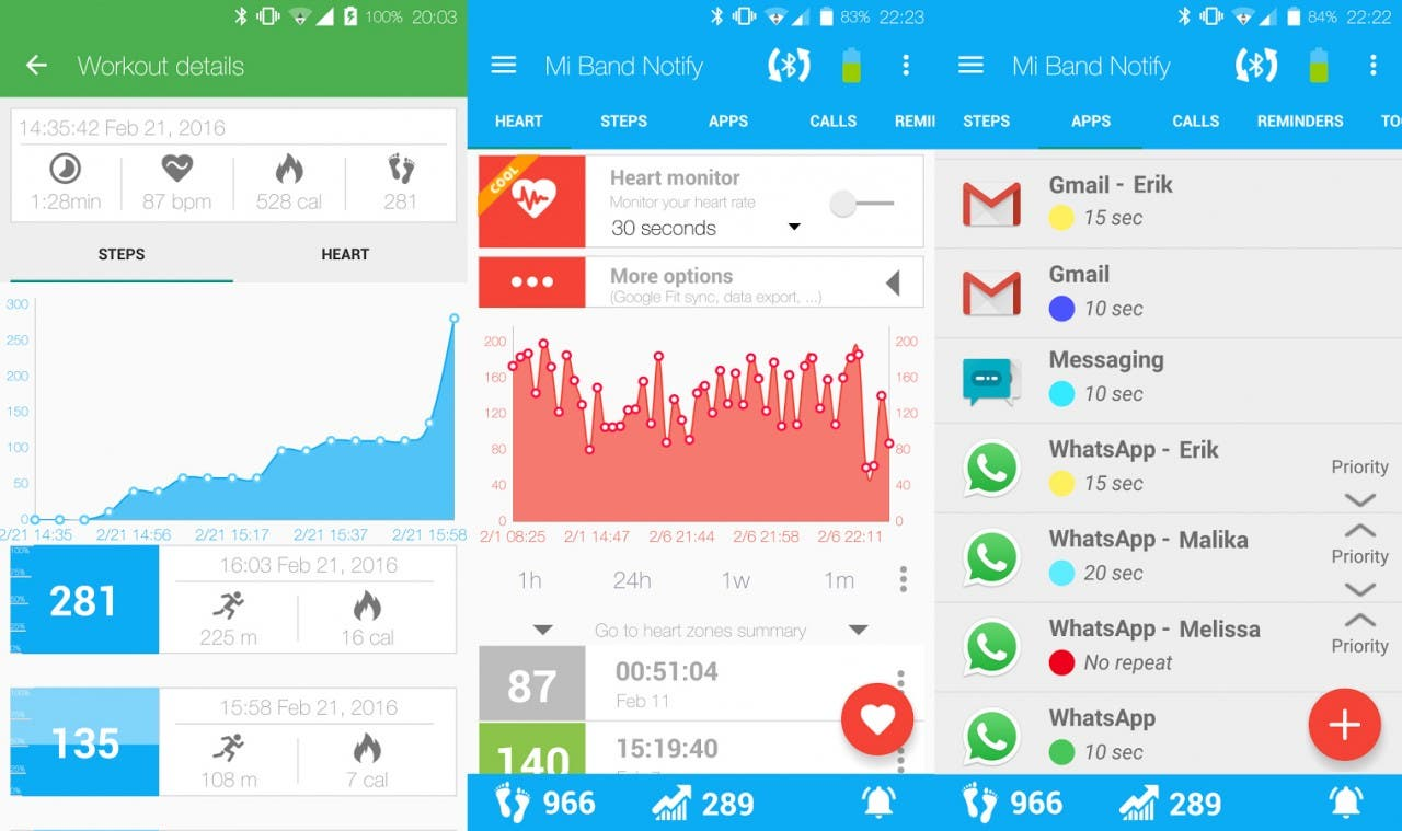 captura Notify & Fitness for Mi Band