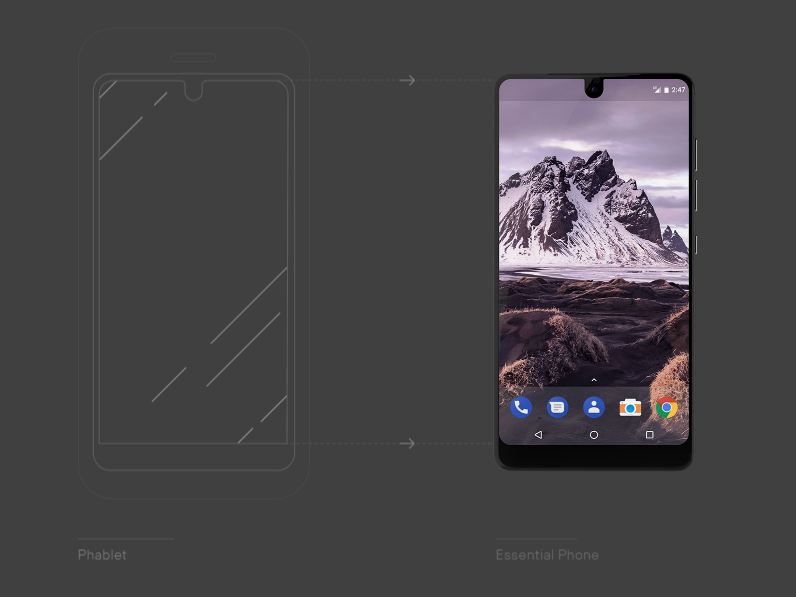 essential phone pantalla
