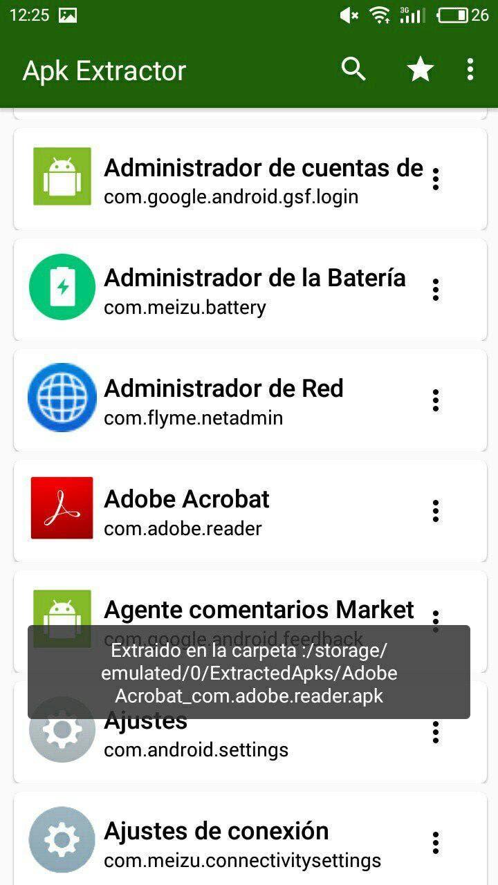 extraer el APK de una aplicación