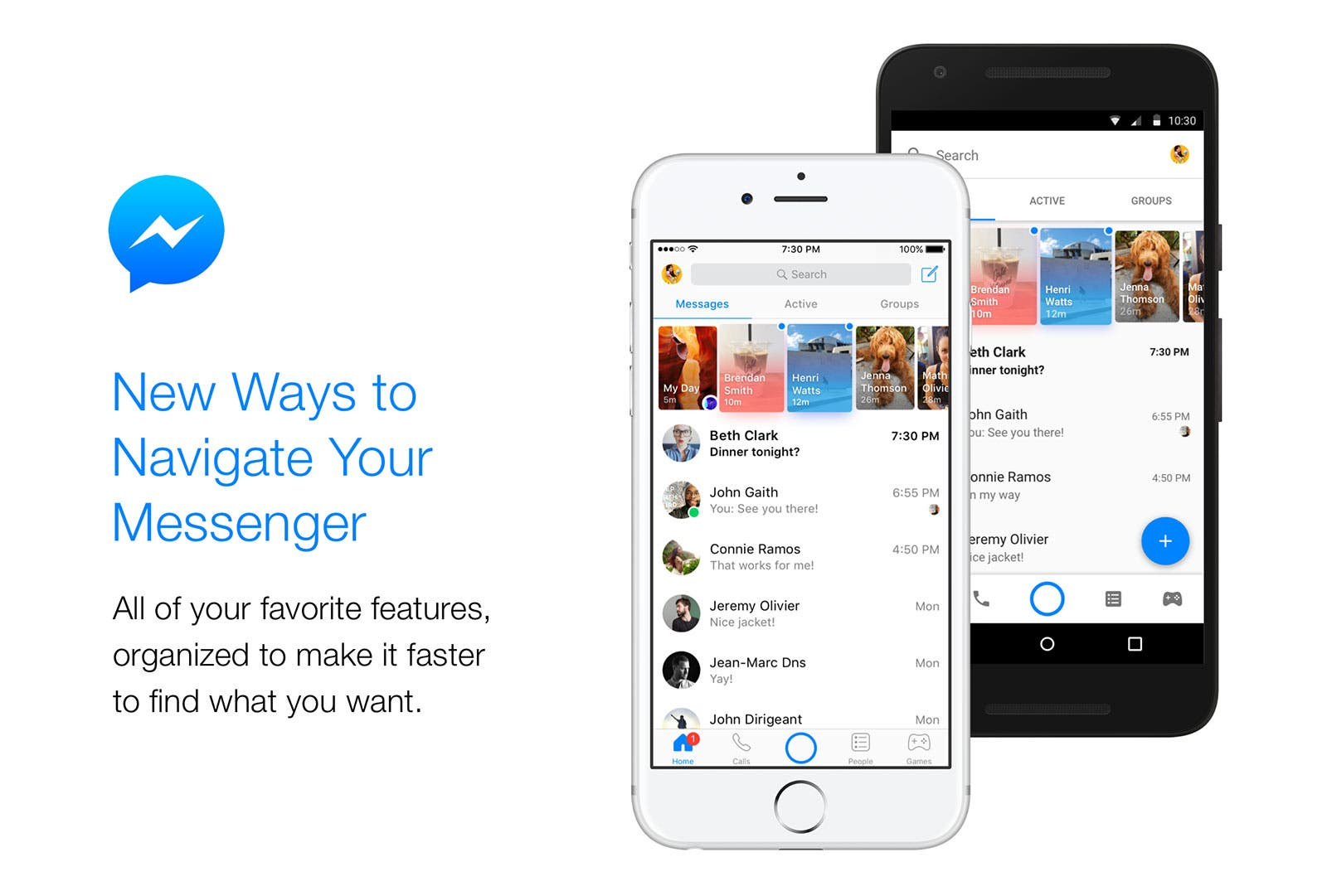 nueva interfaz facebook messenger