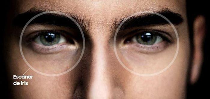 ojos escáner de iris