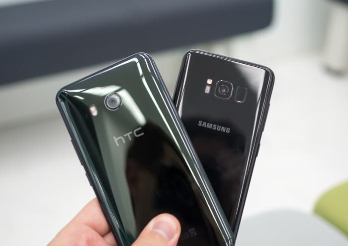 htc u11 vs galaxy s8 verde