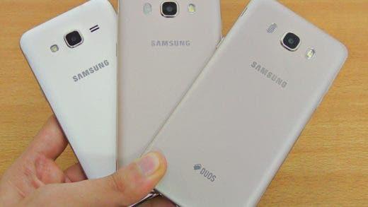 Diferencias entre el Samsung Galaxy J3, J5 y J7