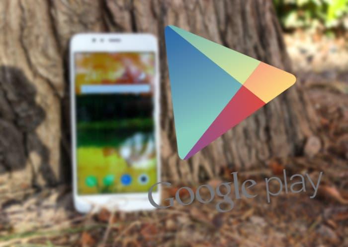 google play sobre móvil