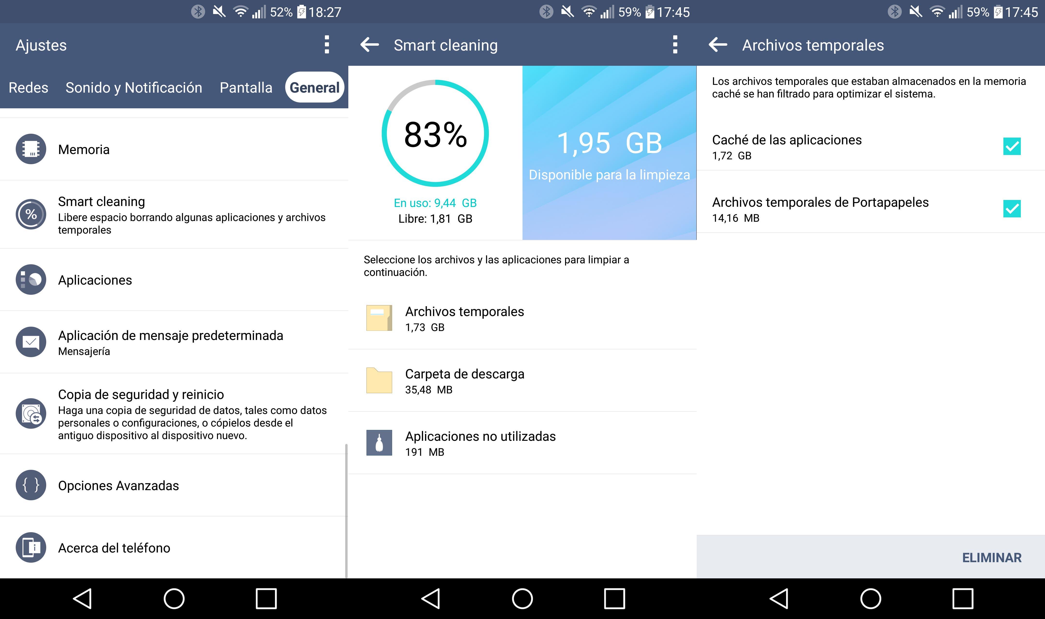 screenshot movil android lg g3