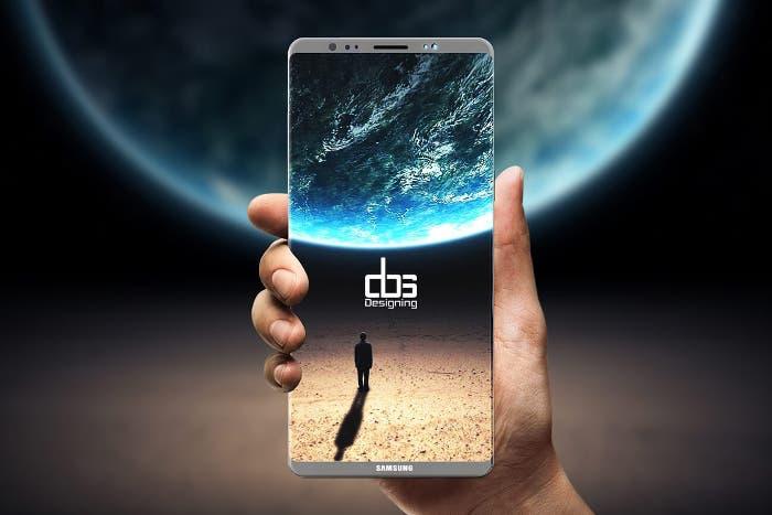 Un nuevo concepto del Samsung Galaxy Note 8 muestra su doble cámara