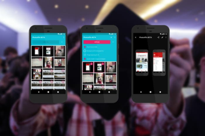 Cómo agrupar varias capturas de pantalla en Android