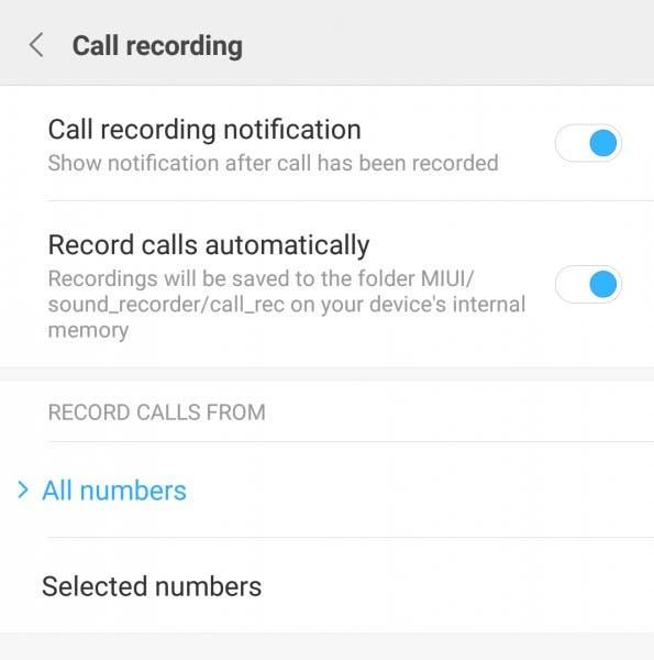 Grabar llamadas MIUI 8