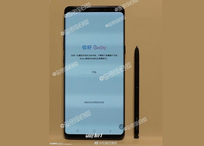 frontal samsung galaxy note 8