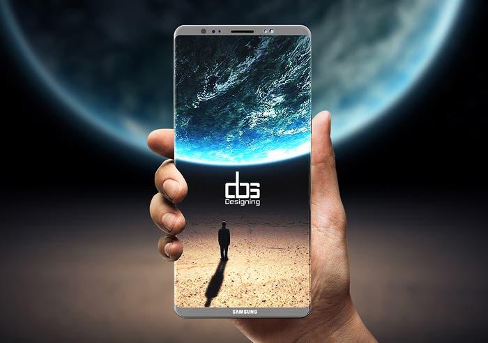 La pantalla del Samsung Galaxy Note 8 podría ser aún más infinita que la del Galaxy S8