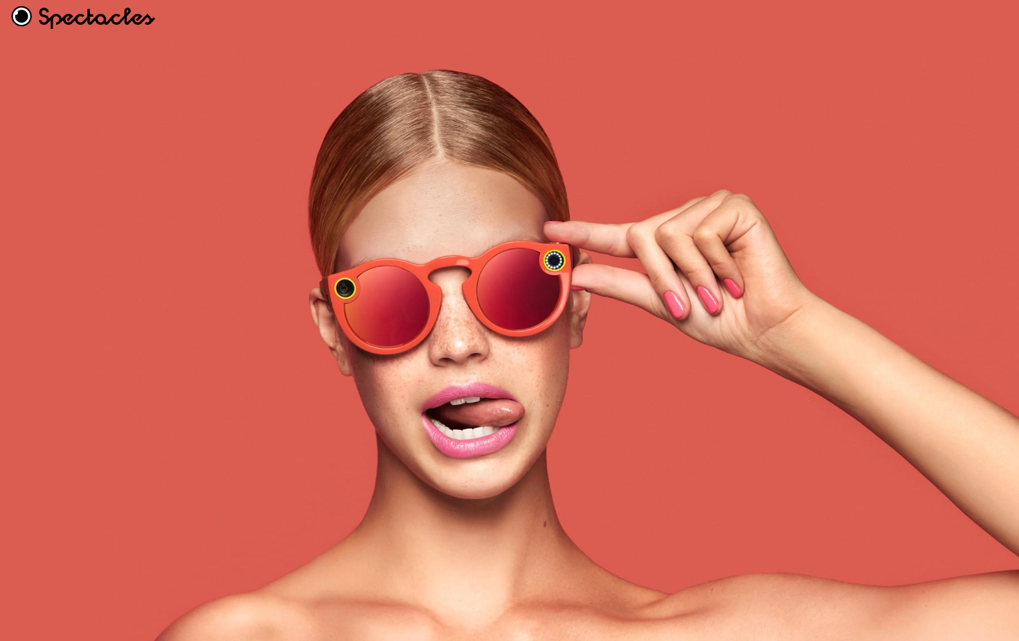 Snapchat Spectacles mujer coral