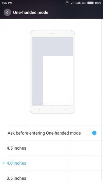 Usa Xiaomi con una mano