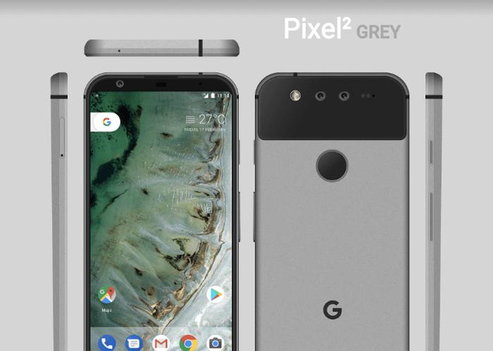 Así sería el diseño del Google Pixel 2 según estos conceptos