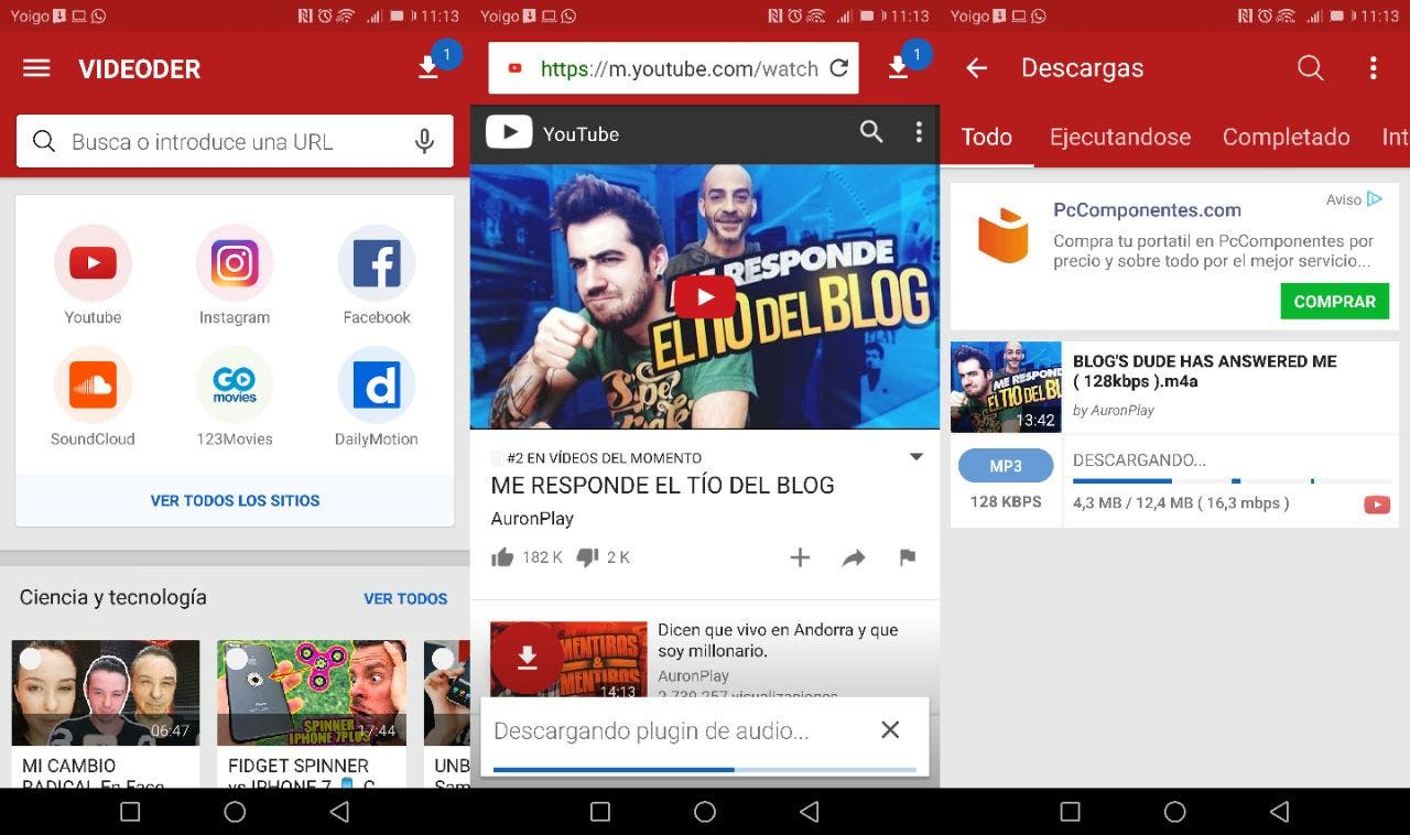 como descargar videos de youtube en tu celular android