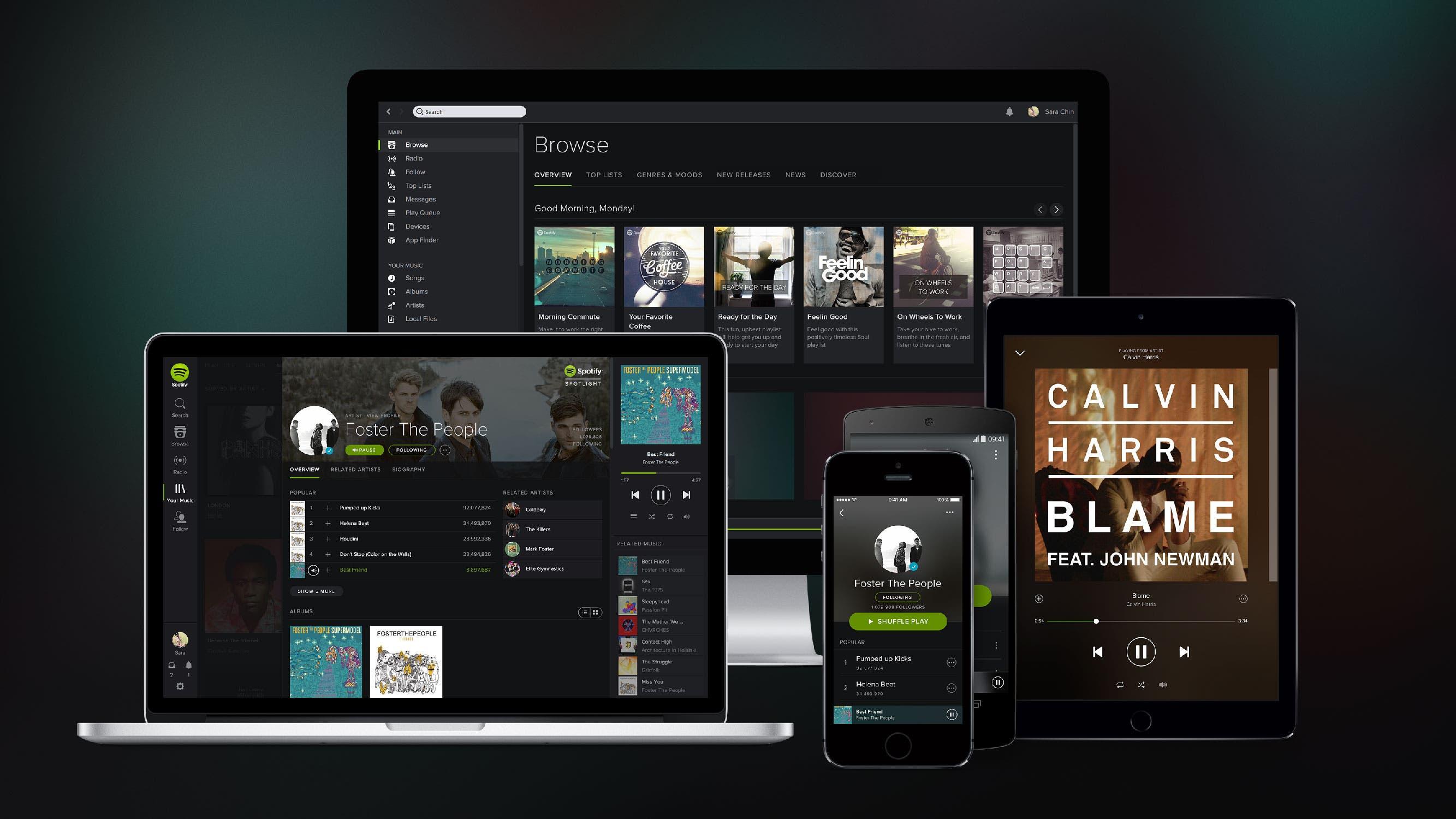 spotify multidispositivo