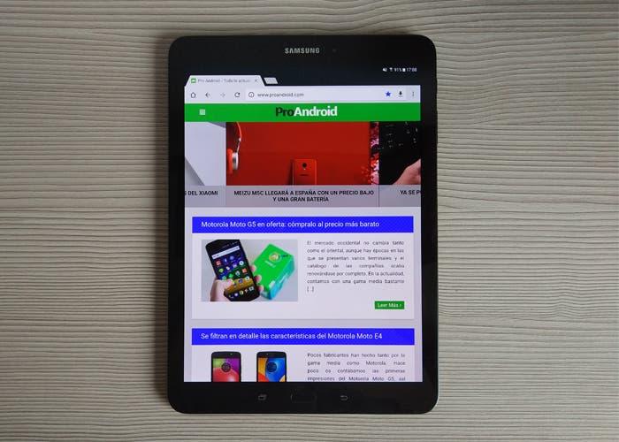 Pantalla en el análisis de la Samsung Galaxy Tab S3
