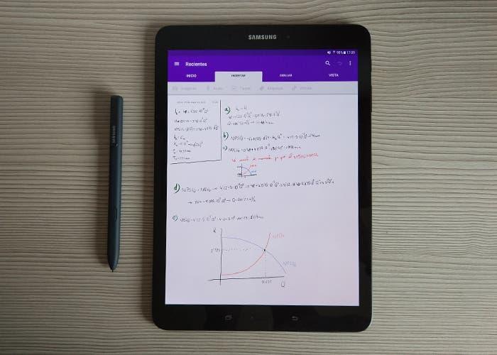 S-Pen y Samsung Galaxy Tab S3