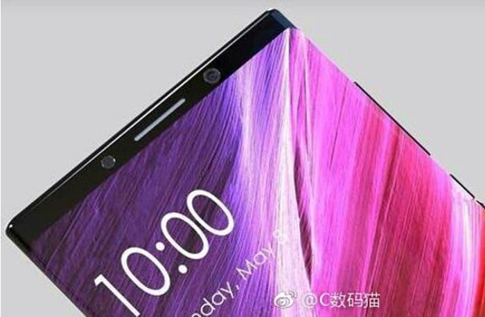Otro concepto del Xiaomi Mi Mix 2 nos deja con una pantalla curva