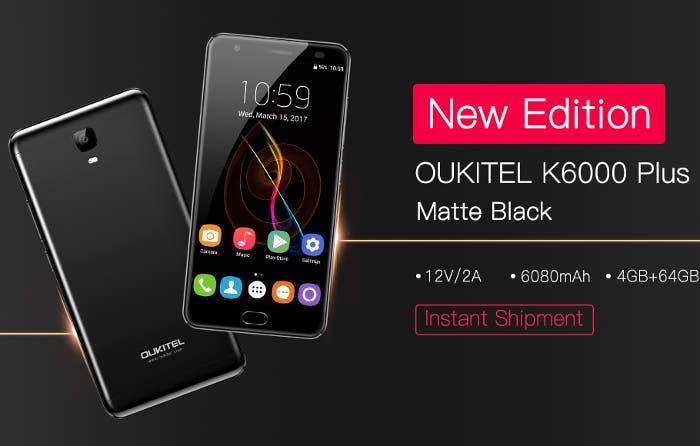 Oukitel K6000 Plus se actualiza con esta nueva versión Matte Black