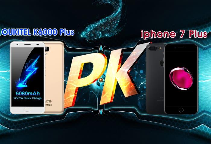Oukitel K6000 Plus vs iPhone 7 Plus: ¿qué batería cargará más rápido?