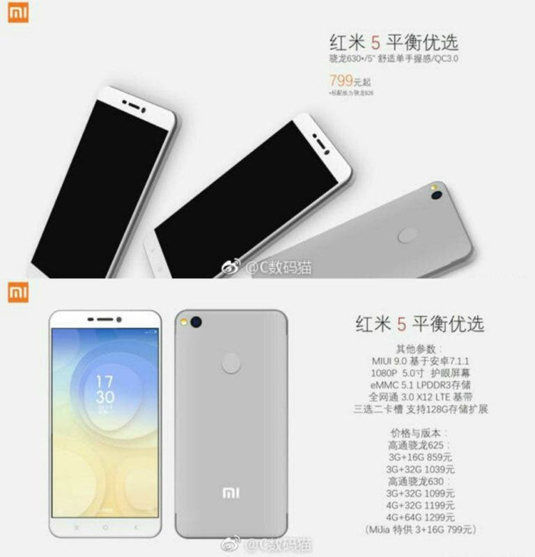 Características del Xiaomi Redmi 5