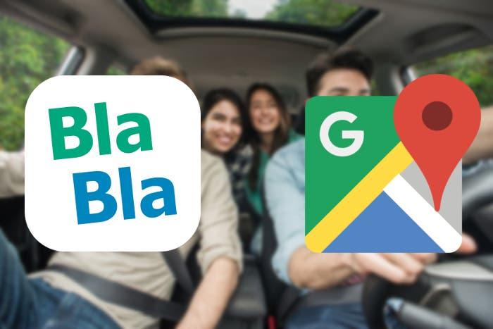Google Maps ahora te muestra los viajes y el precio de Blablacar