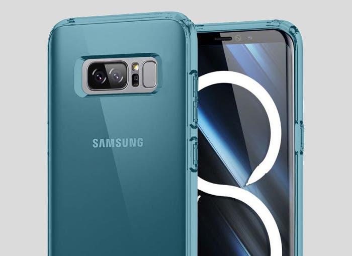 El diseño del Samsung Galaxy Note 8 filtrado de nuevo gracias a sus fundas
