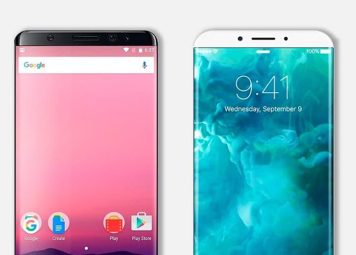 renders galaxy note ocho vs iphone 8