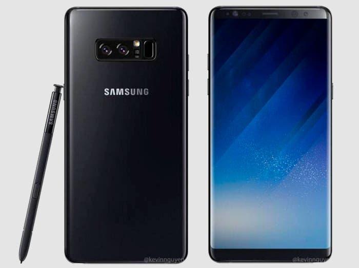 ¿Podría ser este el diseño oficial del Samsung Galaxy Note 8?
