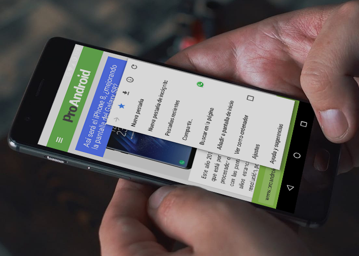 Chrome en el OnePlus 5