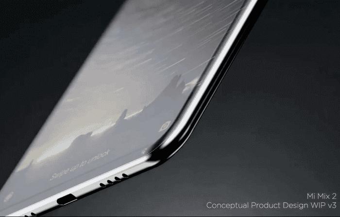 El Xiaomi Mi MIX 2 se muestra en un vídeo revelando su diseño