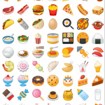 android oreo emojis comida