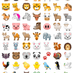 android oreo emojis animales