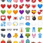 android oreo emojis corazon
