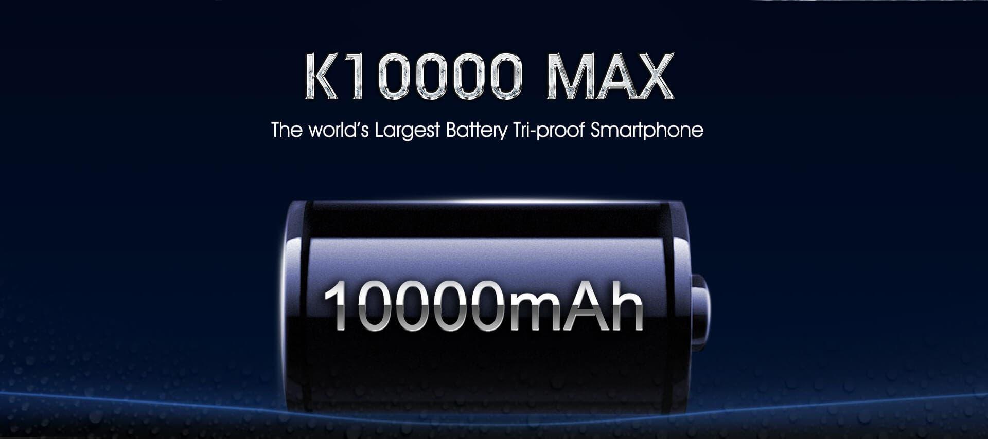 Batería de 10000 mAh del Oukitel K10000 MAX