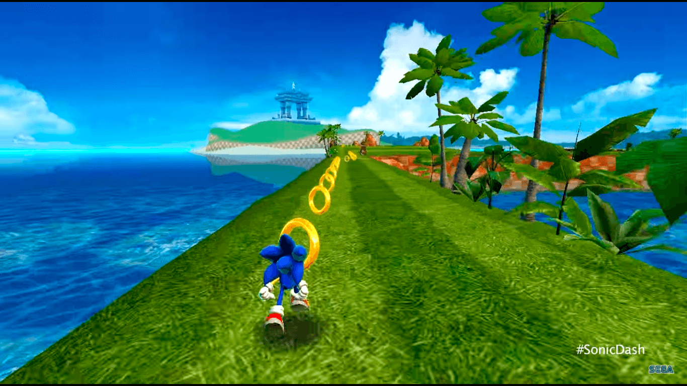 Gamplay de Sonic Dash