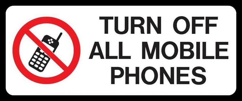 apagar telefonos móviles