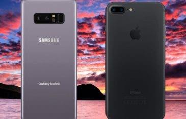 Samsung Galaxy Note 8 vs iPhone 7 Plus: una comparativa de altos vuelos