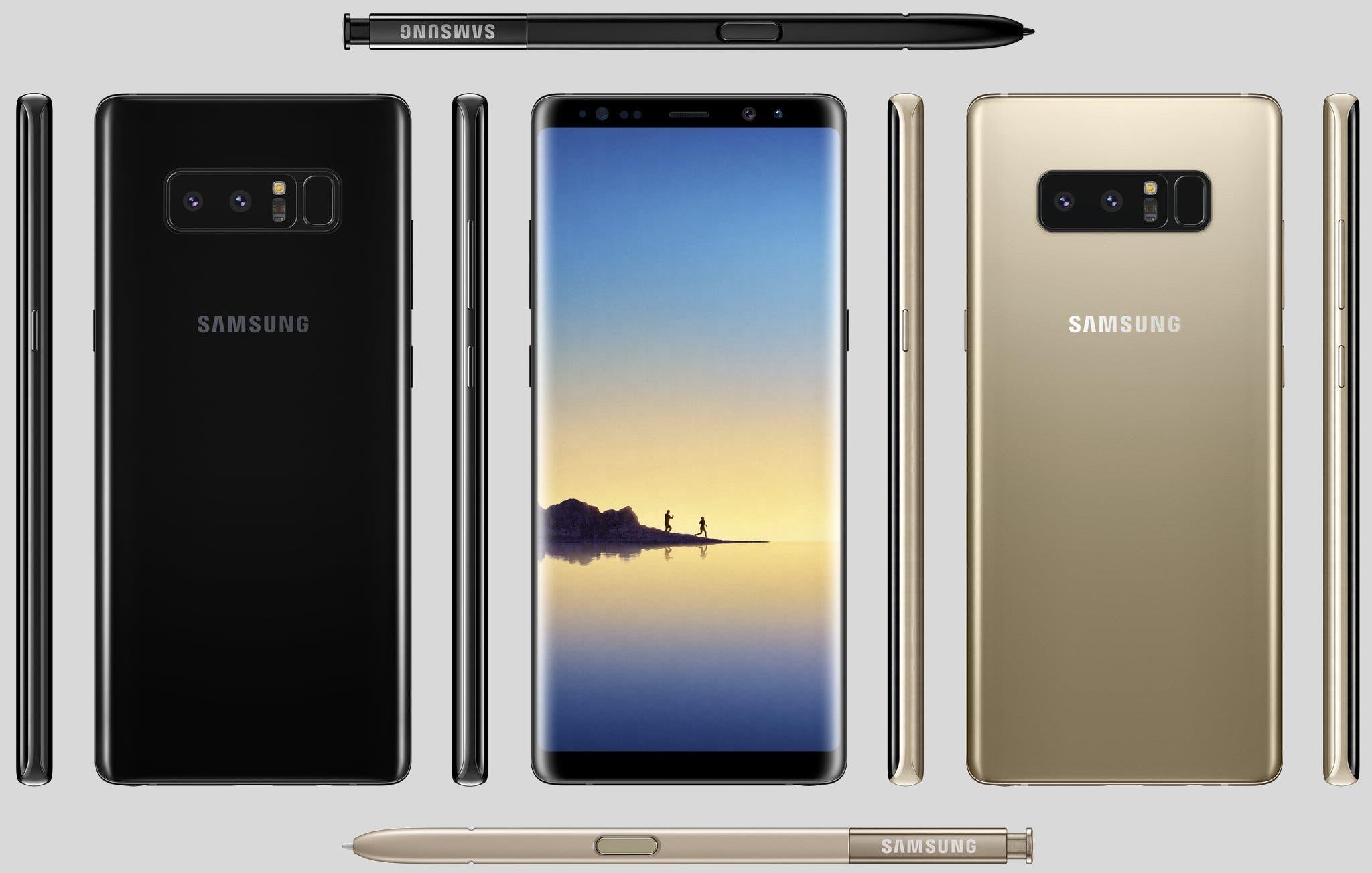 Galaxy note 8 diseño final