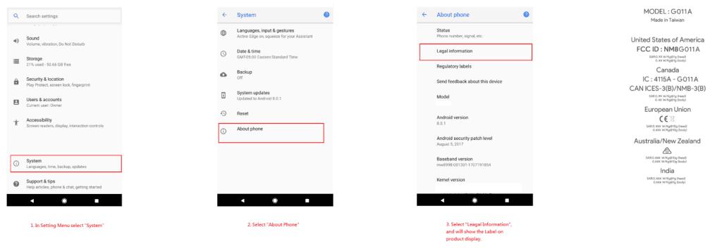 FCC del Google Pixel 2