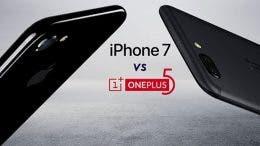 OnePlus 5 vs iPhone 7 pantalla