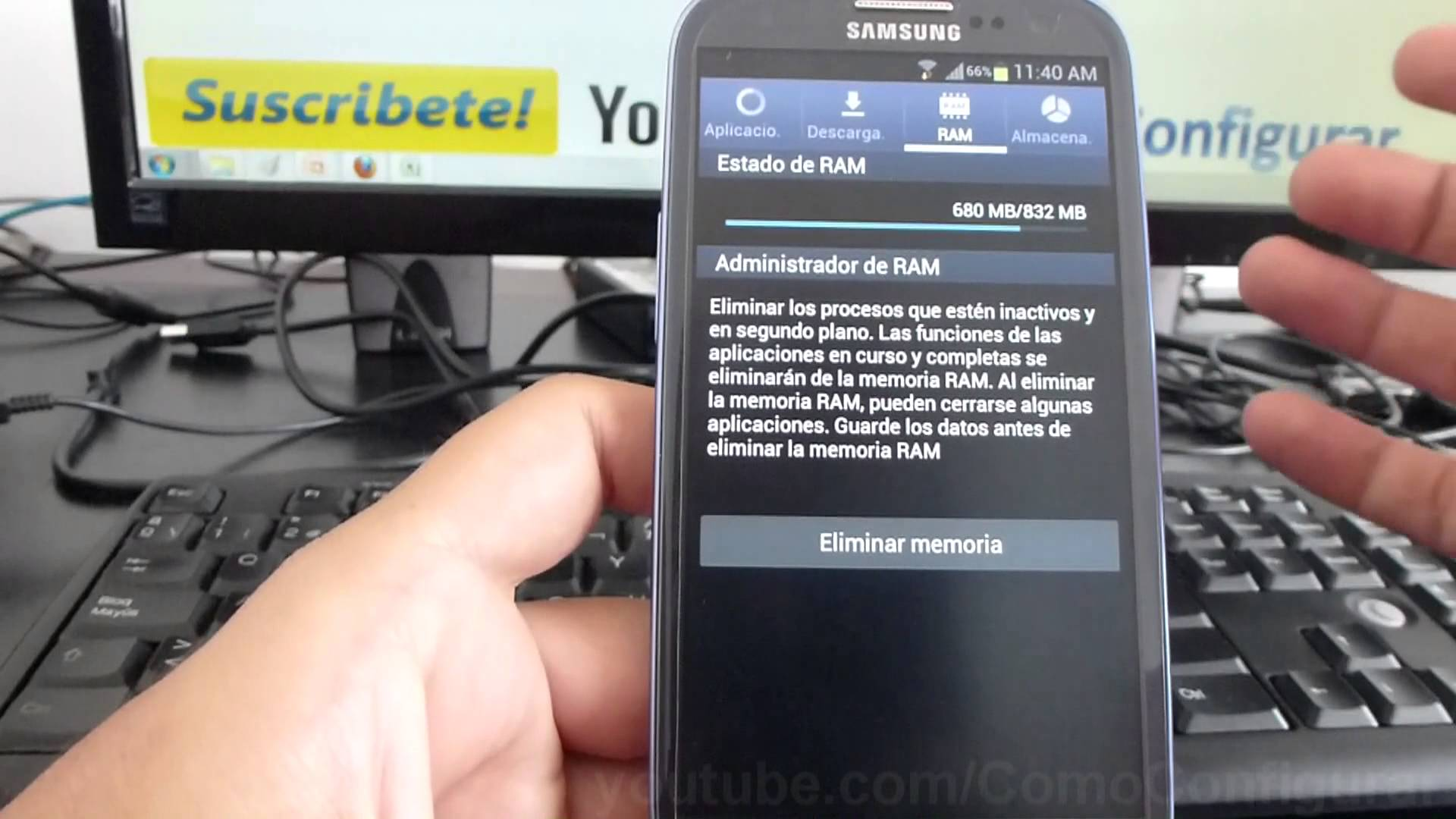 memoria ram Galaxy S3 Android