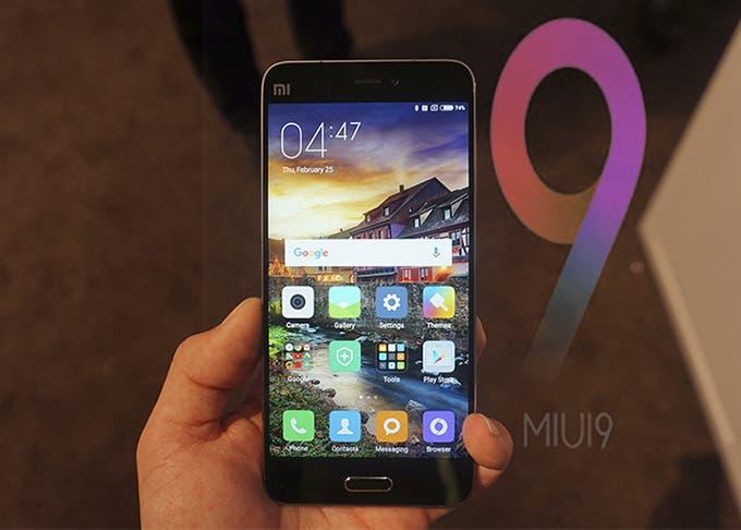 La actualización de MIUI 9 para el Xiaomi Mi5 llegará muy pronto