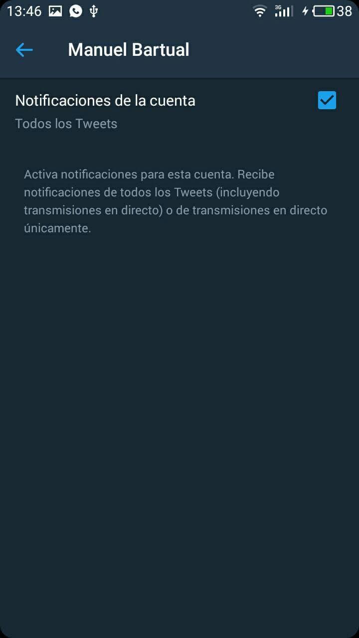 activar notificaciones twitter