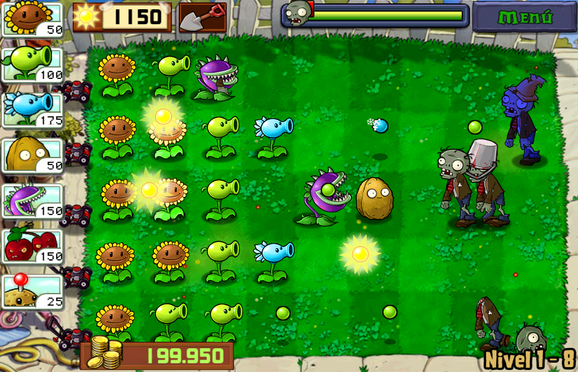 Gameplay de Plants vs Zombies