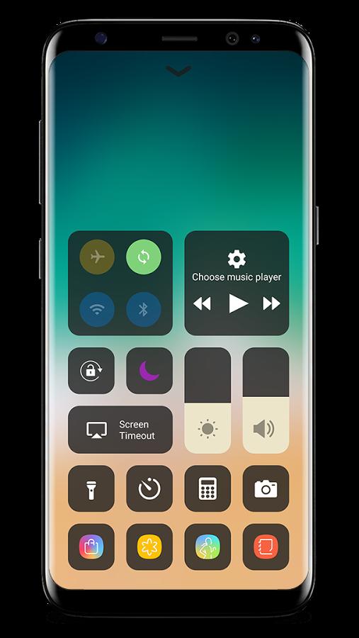 centro de control iOS android