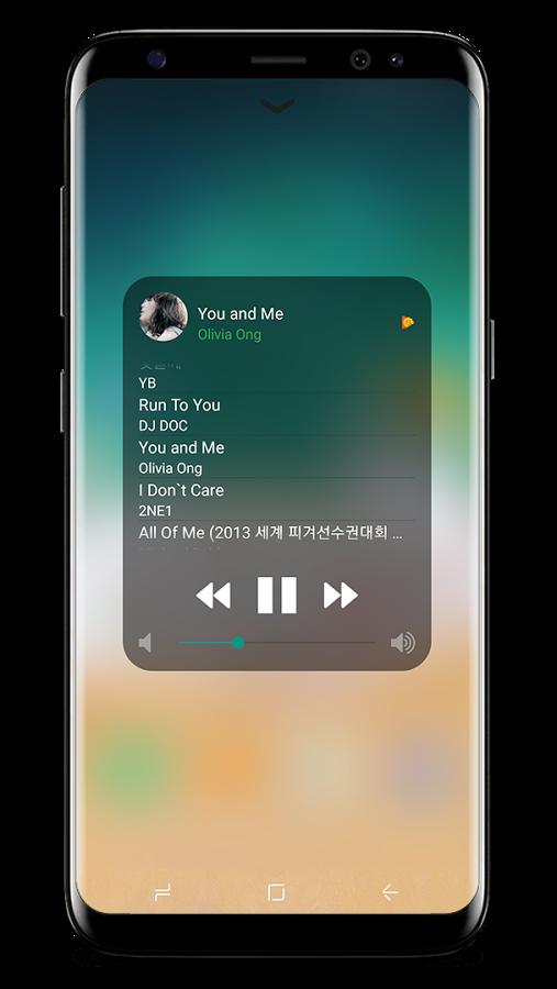 centro de control ios musica android