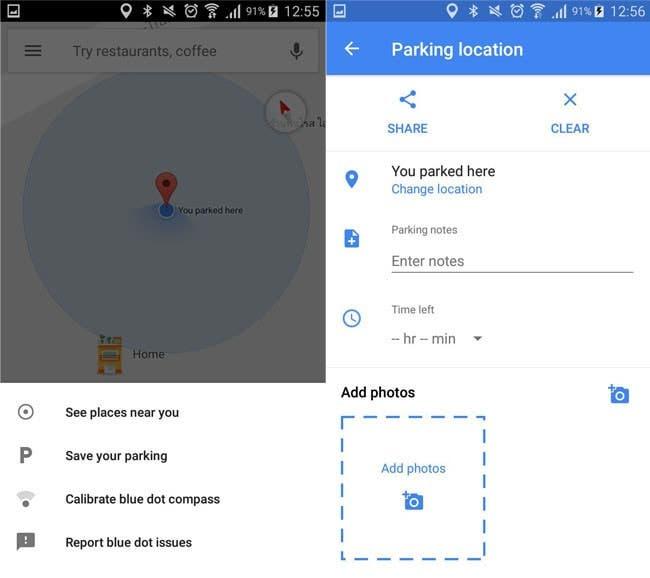 Google Maps aparcar